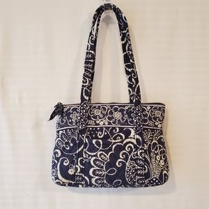 Vera Bradley small tote bag navy twirly bird